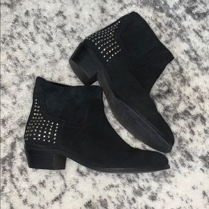 Marc Fisher black booties studded size 8